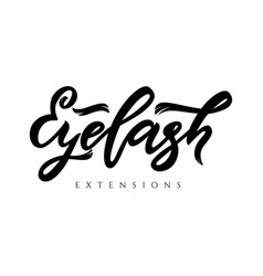 Eyelash extensions hand calligraphy lettering vector