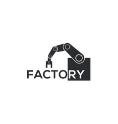 Factory industry robotic logo modern vector