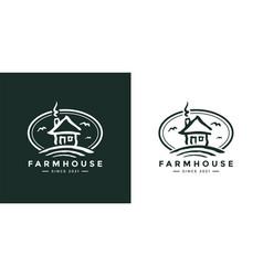 farmhouse logo icon vector image