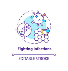 Fighting infections concept icon vector