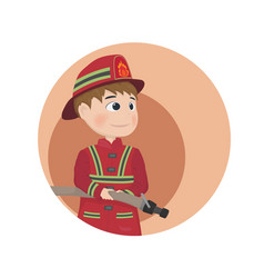 fireman icon cartoon character vector image