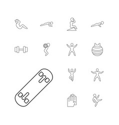 Fit icons vector