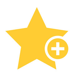 flat star icon favorite sign bookmark button vector image