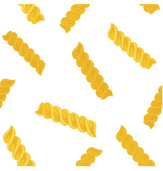 fusilli or fusillini pasta seamless pattern vector image