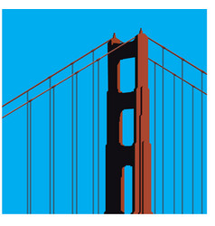 golden gate bridge tower vector image