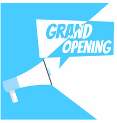 grand opening banner vector image