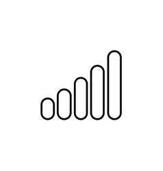 Graph line icon black vector