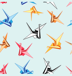 graphic pattern origami birds vector image