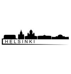 helsinki skyline vector image