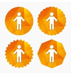 Human male sign icon Person symbol vector image