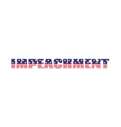 Impeachment usa election banner text vector