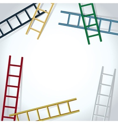 Ladders background vector