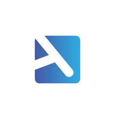 Letters a logo design template elements vector