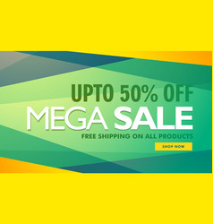 Mega sale creative design banner template vector