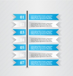 Modern infographic white and blue design template vector