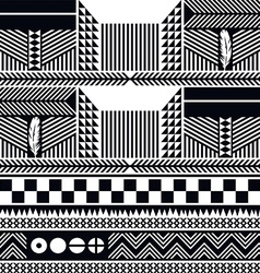 native pattern tribe culture vector image