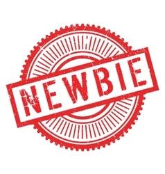 Newbie stamp rubber grunge vector