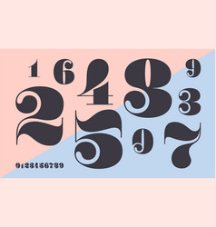 Number font font numbers in classical french vector