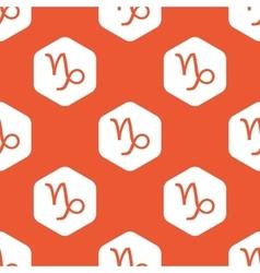 Orange hexagon Capricorn pattern vector