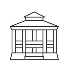 Pavilion icon amusement park related line style vector
