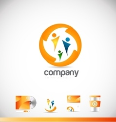 People together logo icon design vector