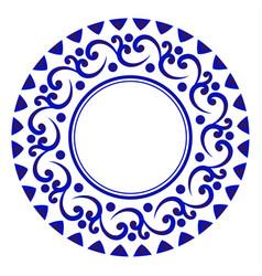 porcelain round design vector image