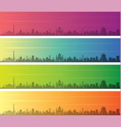 Porto alegre multiple color gradient skyline vector