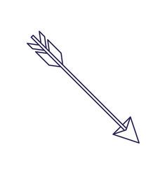 purple line contour of hunting arrow vector image