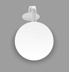 Realistic template blank white round advertising vector