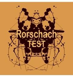 Rorschach ink blot design Psychological vector image