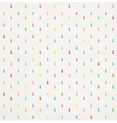 seamless colorful rain drops pattern vector image