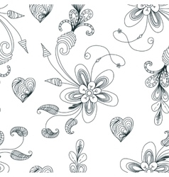 Seamless floral pattern with texture for fabric or vector image