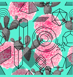 Seamless pattern with abstract geometric shapes vector