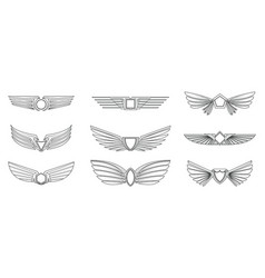 set different wings set vector image