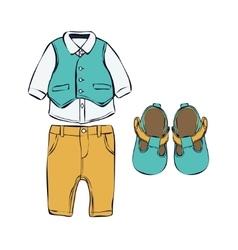 Set of children clothes vector