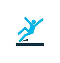 slippery area icon colored symbol premium quality vector image