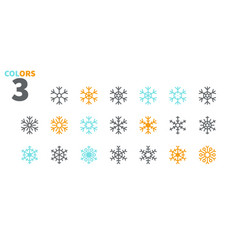 snowflakes pixel perfect icons well-crafted vector image