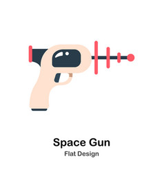Space gun flat vector