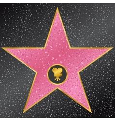 Star hollywood walk fame vector