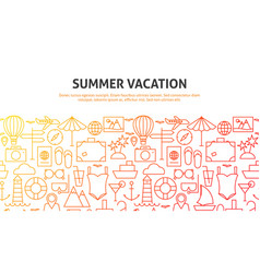 summer vacation web concept vector image
