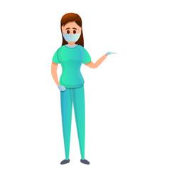 Surgery nurse icon cartoon style vector