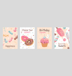 Sweets posters set vector