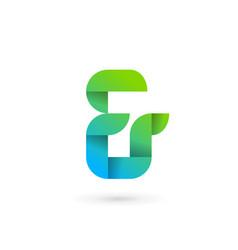Symbol and ampersand ribbon logo icon design vector