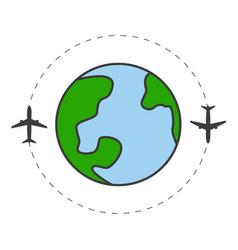 travel around planet concept vector image