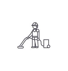 vacuum home cleaning line icon sig vector image