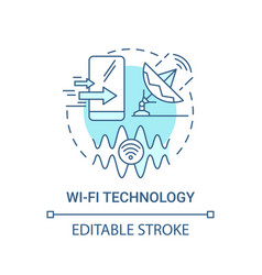 Wi-fi technology blue concept icon vector