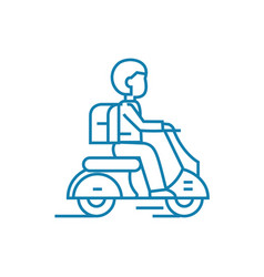 working as a courier linear icon concept working vector image