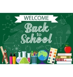 background from the school and education icons vector image