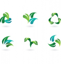 eco leaves vector image vector image