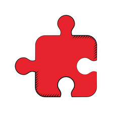 puzzle strategy creativity solution vector image